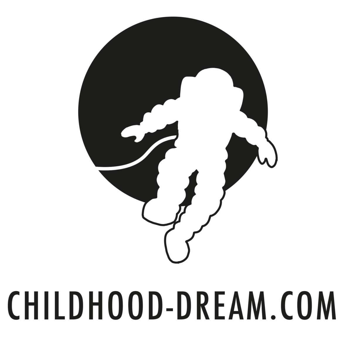 Childhood dream logo, video game studio, indiegame