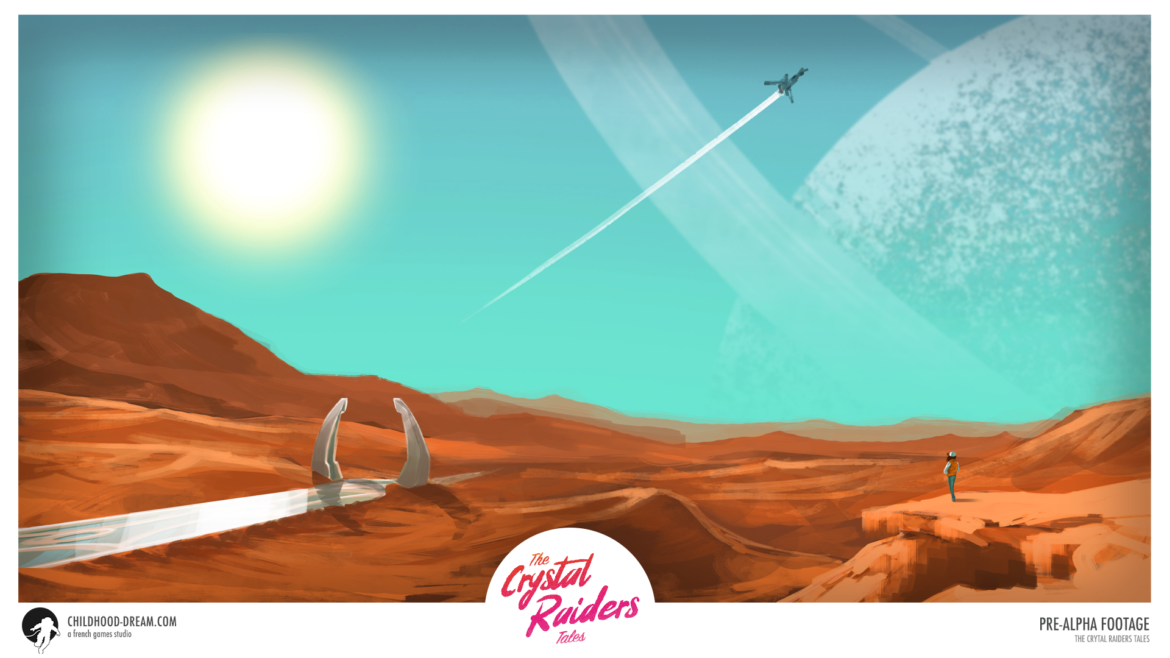 Planete desertique TCRT, The Crystal Raiders Tales, planet desert, concept art, video game, indiegame, sci-fi, RPG