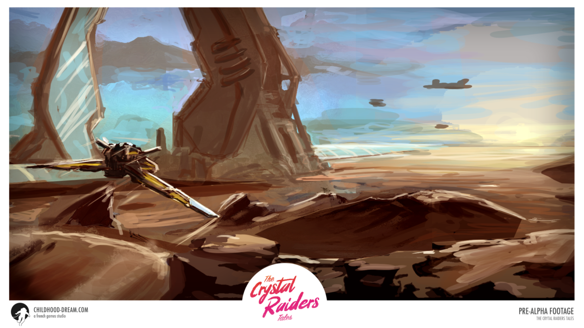 Planete Desert 2 TCRT, The Crystal Raiders Tales, planet Desert, concept art, video game, indiegame, sci-fi, RPG