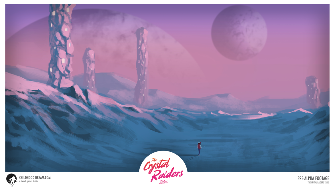 Planete glace TCRT, The Crystal Raiders Tales, planet ice, concept art, video game, indiegame, sci-fi, RPG