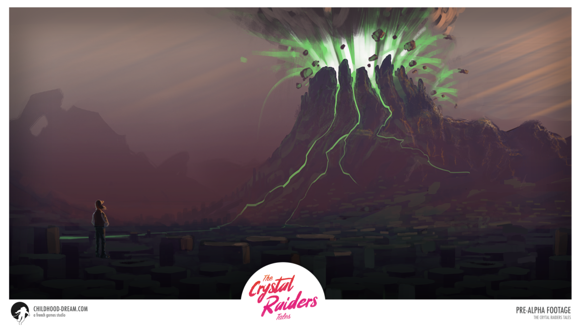 Planete volcanique TCRT, The Crystal Raiders Tales, planet volcanic, concept art, video game, indiegame, sci-fi, RPG