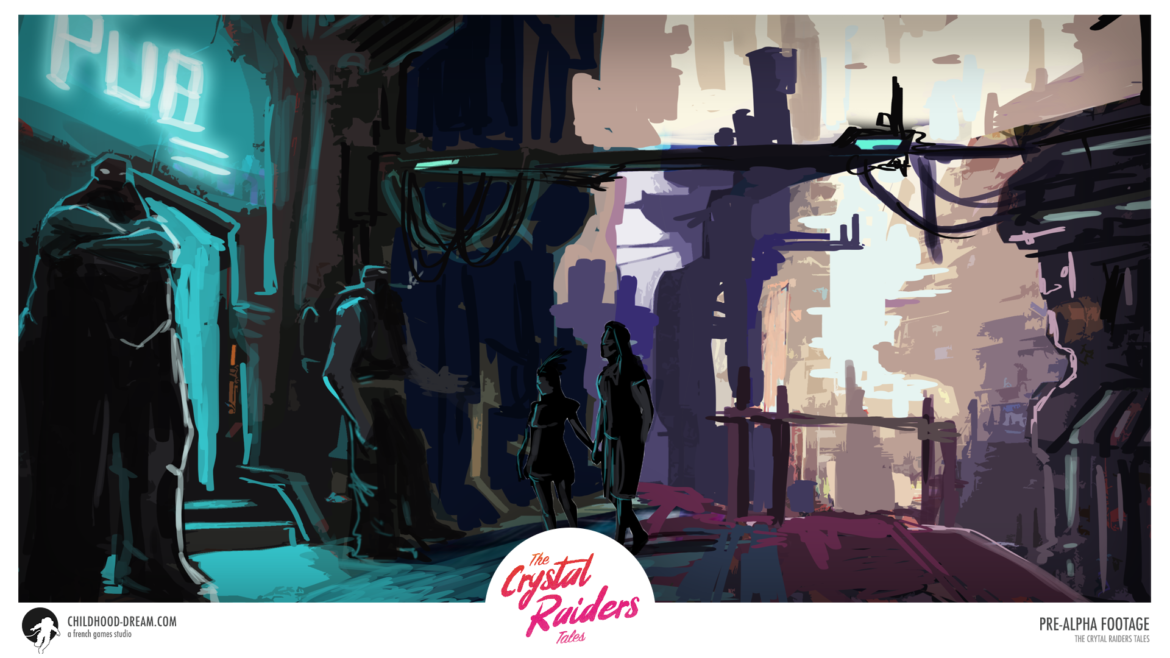 Planete-ville-TCRT, The Crystal Raiders Tales, planet ville, concept art, video game, indiegame, sci-fi, RPG
