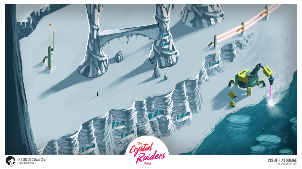 map isometric ice the crystal raiders tales, video game, indiegame, concept, artwork, RPG, sci-fi