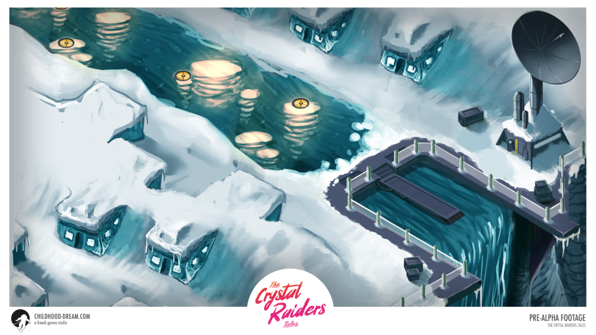 map isometric ice 2 the crystal raiders tales, video game, indiegame, concept, artwork, RPG, sci-fi