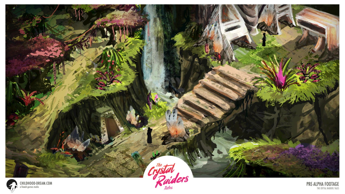 map isometric tropical the crystal raiders tales, video game, indiegame, concept, artwork